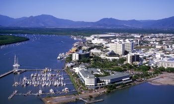 Aerial view of Cairns North Queensland, Australia